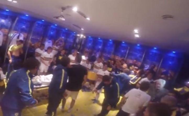 Video - Los festejos íntimos de los jugadores de Boca en el vestuario y en la fiesta del club