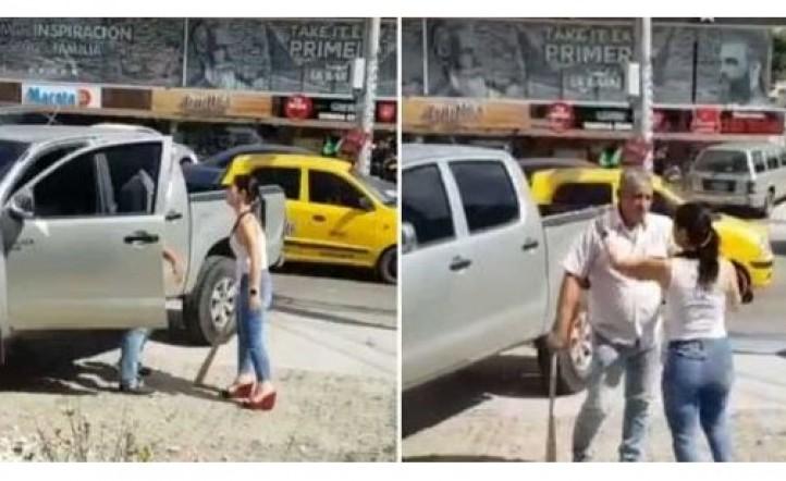 Lo encontró con su amante y le destruyó la camioneta con un bate